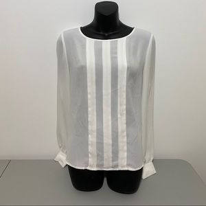 Forever 21 Long Sleeve White Blouse Size Medium